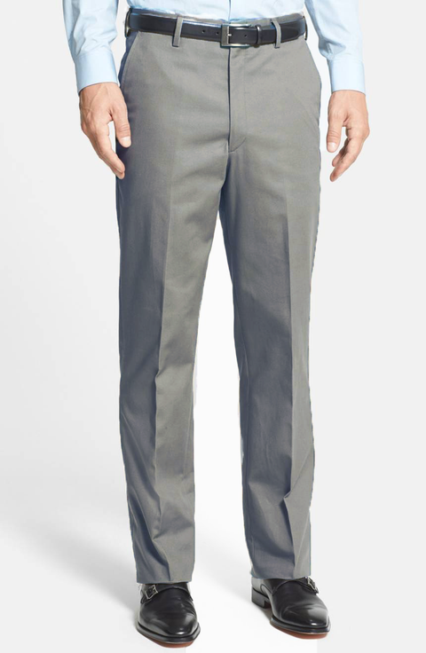 Charleston Khakis Fine Line Stretch Twill<br>Flat Front<br>Regular Rise