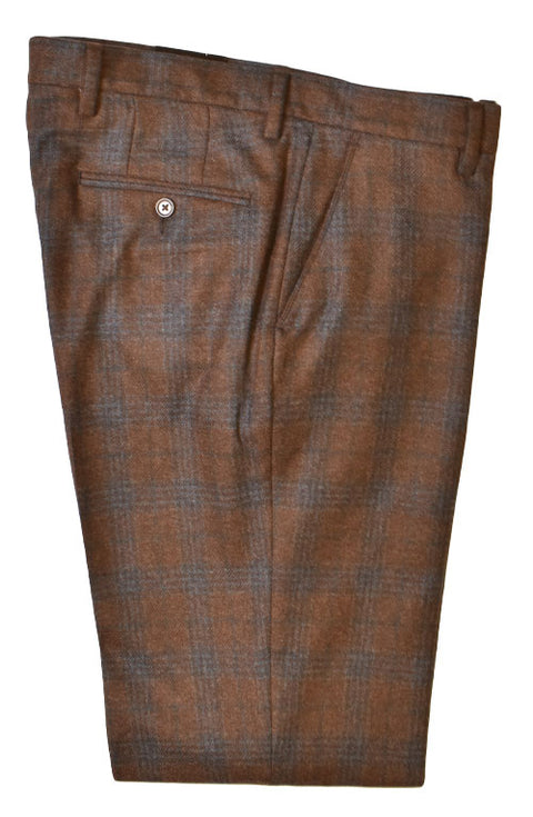 Wool Plaid Pant<br>Flat Front<br>Regular Rise