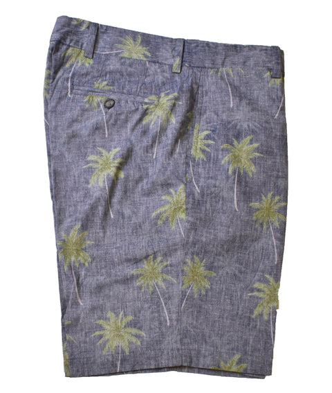 Charleston Khaki Palm Print Short<br>Regular Rise