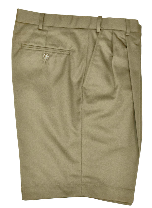 Performance Twill Self Sizer Pleated Short