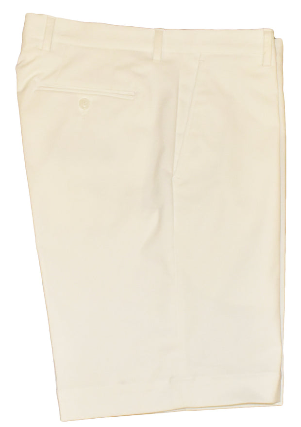 Brushed Polyester/Cotton Stretch Flat Front Short