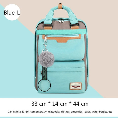 2019 New Waterproof Nylon Kids Backpack Girls For Middle School Students Travel Shoulder Backpacks Children Schoolbags Women Bag