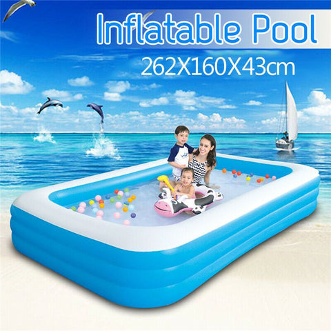 262X160X43cm Large Size Children's Home Use Paddling Pool
