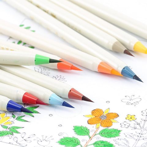 1PC Soft Brush Calligraphy Pen Watercolor Marker Brush