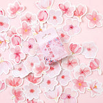 45 pcs/pack Cherry Sakura Words Bullet Journal