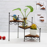3-Layer Retro Iron Plant Rack Stand Plant