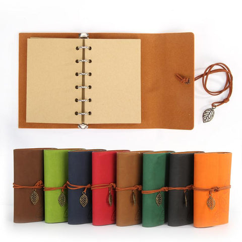 PU Leather Notebooks Loose-leaf Retro