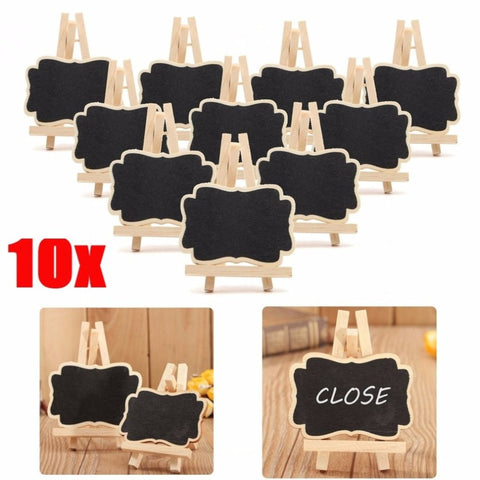 10 PCS Wood Message Board