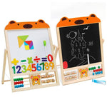 2 IN 1 KIDS Wooden Blackboard Easel Stand