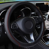 FORAUTO Car Steering Wheel Cover Skidproof Auto Steering- wheel Cover Anti-Slip Universal Embossing Leather Car-styling