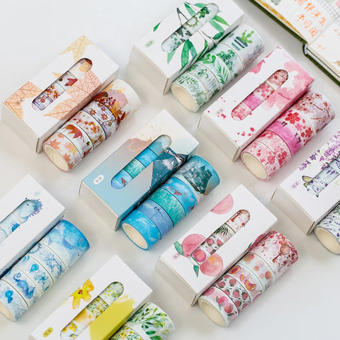 5 Pcs/Box Beautiful Flower washi tape