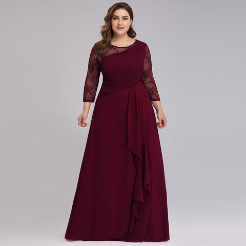 Bride Mother Dress Plus Size Evening Party Gowns