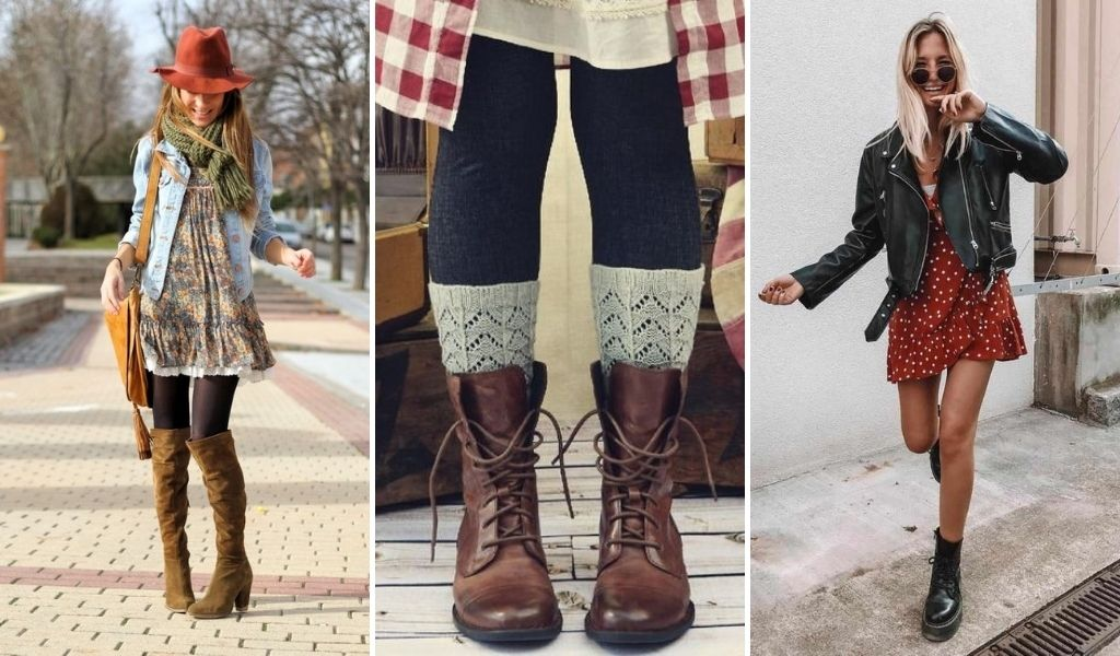 wear winter boots with your dress