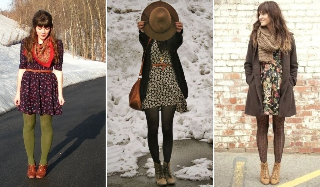 wear tights with the boho dress