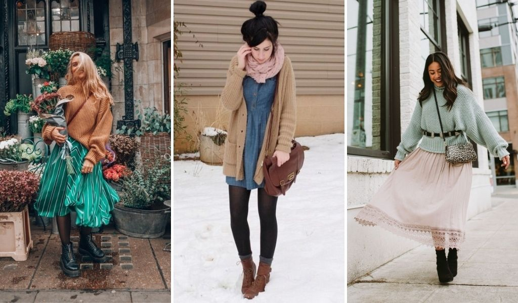 wear a boho sweater or vest with your dress