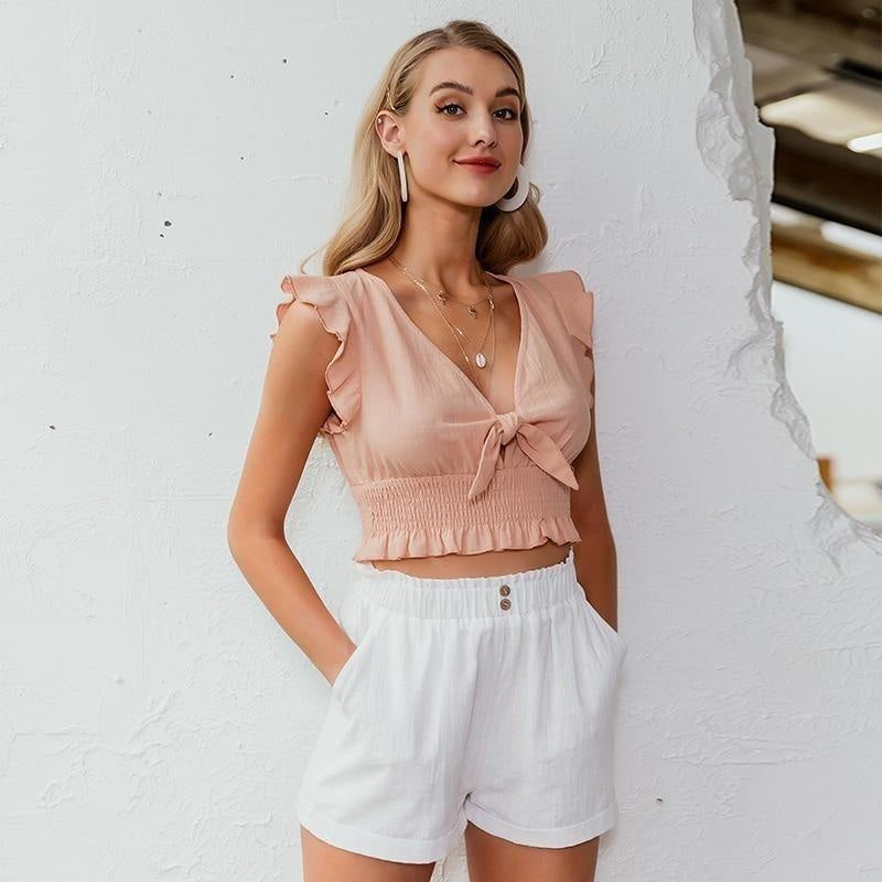 Crop Top Bohème Rose - S