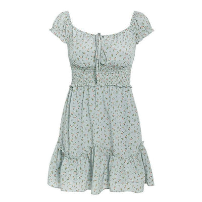 Robe Bohème Chic Petite Taille - Vert / S
