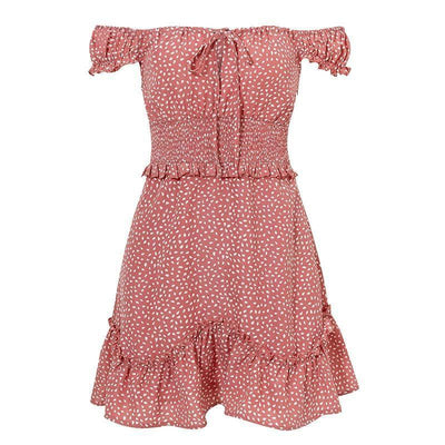 Robe Bohème Chic Petite Taille - Rose / S