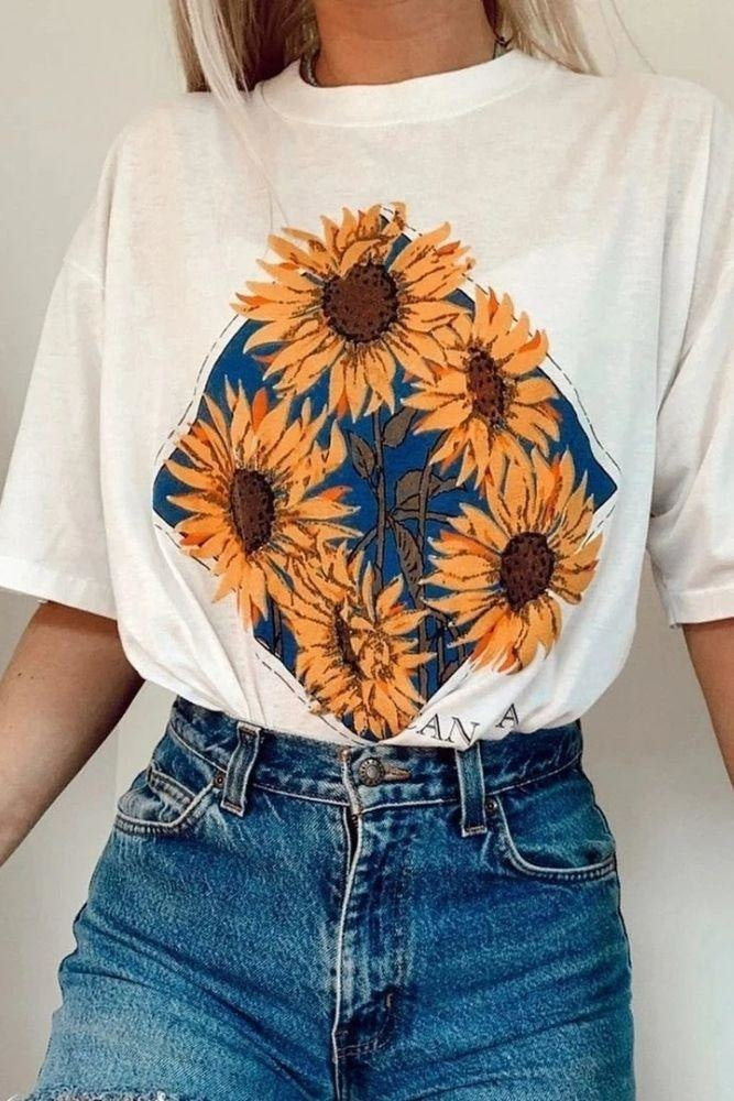 T-shirt Bohème Sunflower - S