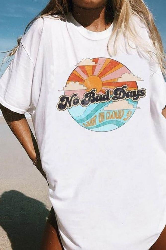 T-shirt Vintage No Bad Days - S / Beige