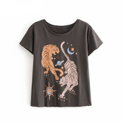 T-shirt Vintage Tiger Space