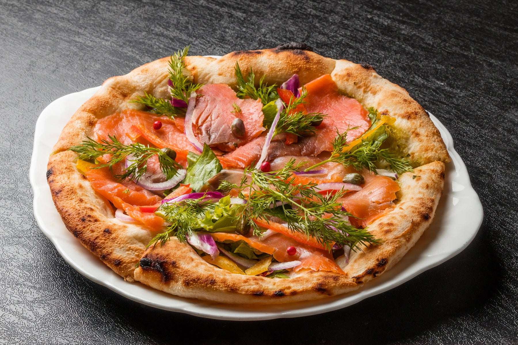 Baked Salmon Pizza Recipe
