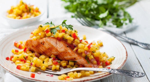 Chipotle Chile Keta Salmon & Mango Slaw Recipe