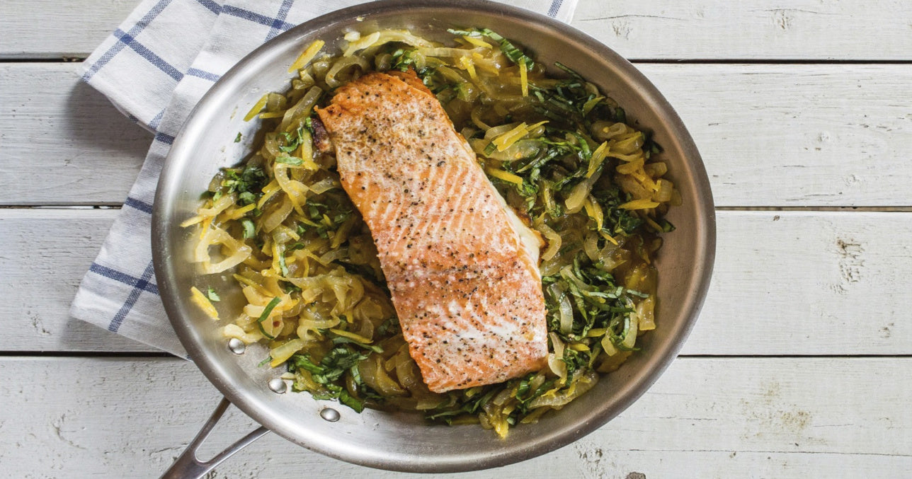 Ali's King Salmon with Lemon-Onion Marmalade Recipe