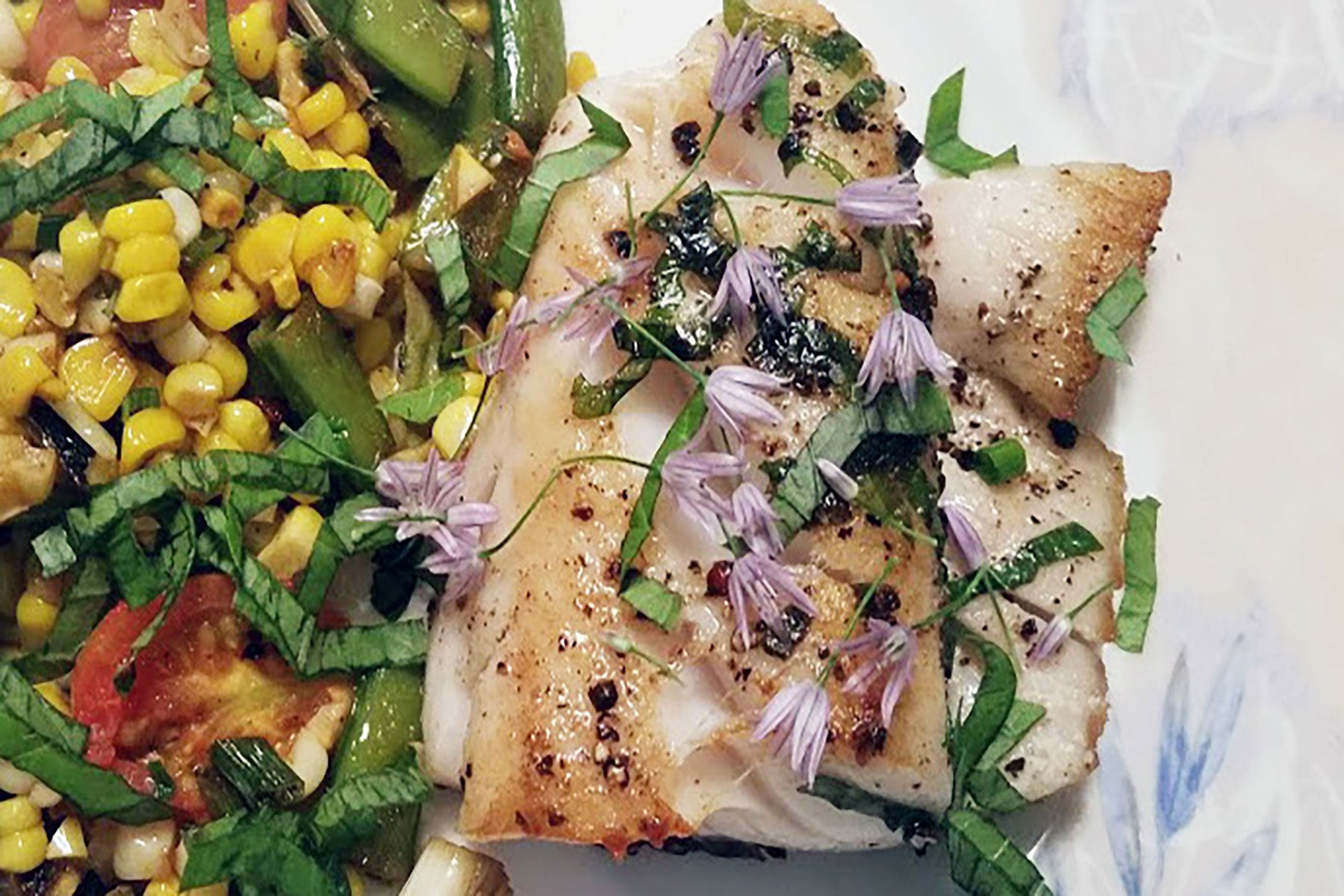 Sablefish (Black Cod) with Summer Succotash Recipe