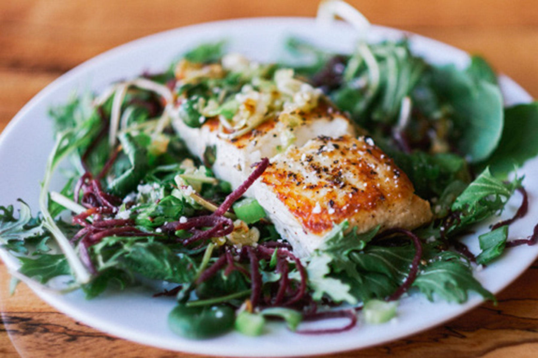 Craig's Halibut and Spring Greens Recipe