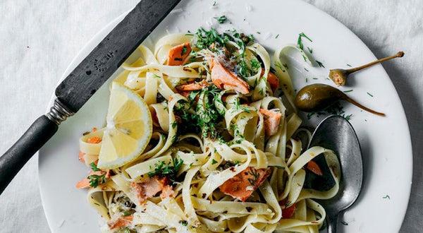 The Hand's Fettuccine with Sockeye Salmon & Capers Recipe