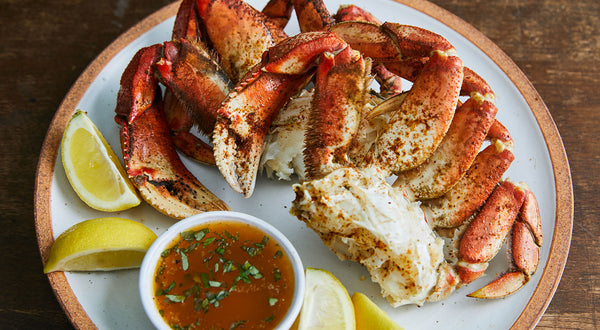 Steamed Dungeness Crab with Herbed Butter Recipe