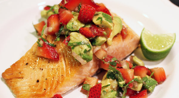 King Salmon with Strawberry Avocado Salsa Recipe