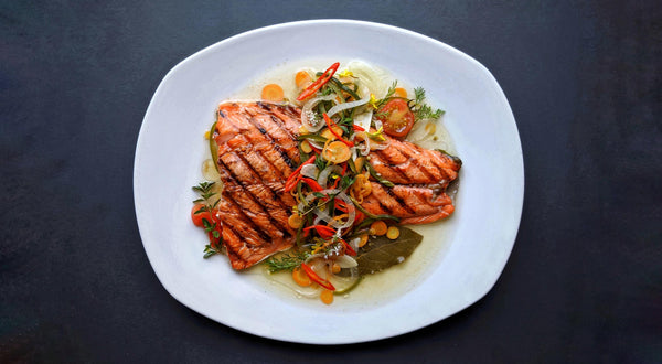 Grilled Coho Salmon Escovitch-Style Recipe
