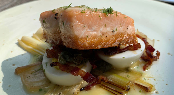 Seared King Salmon with Lemon Chive Beurre Monté Recipe