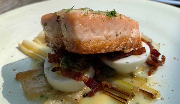 Seared King Salmon with Lemon Chive Beurre Monté