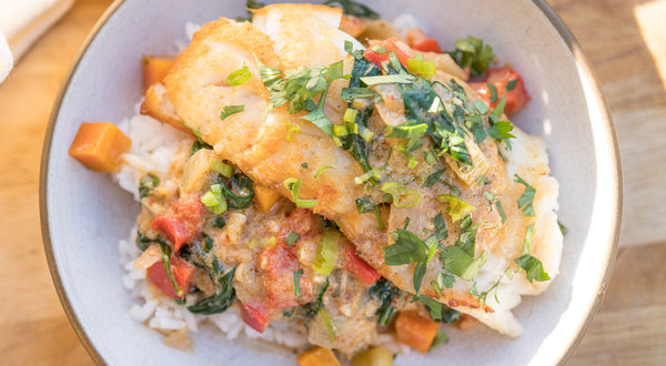 Drew's Black Rockfish Red Curry Recipe