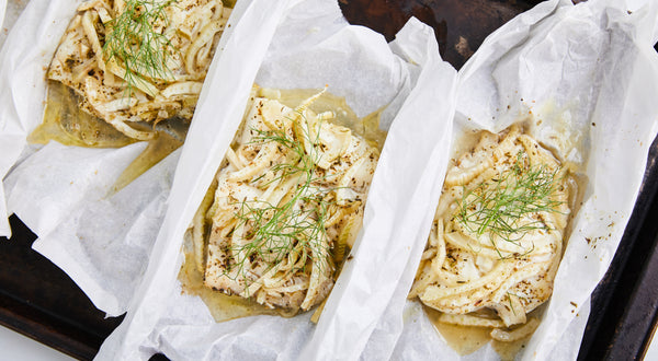 Rockfish with Fennel and Butter En Papillote Recipe