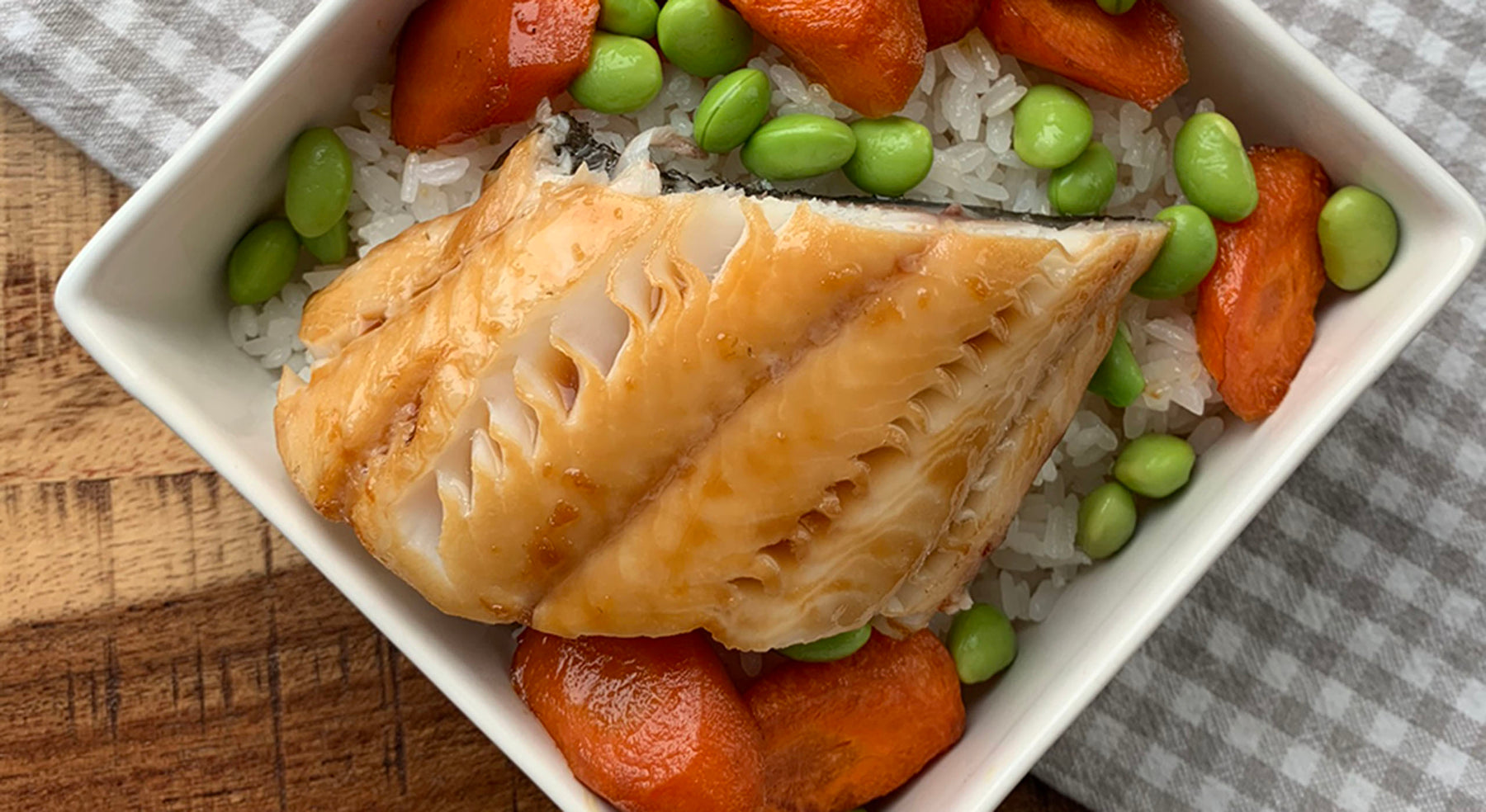 Teriyaki Sablefish (Black Cod) Bowl with Glazed Carrots and Sushi Rice Recipe
