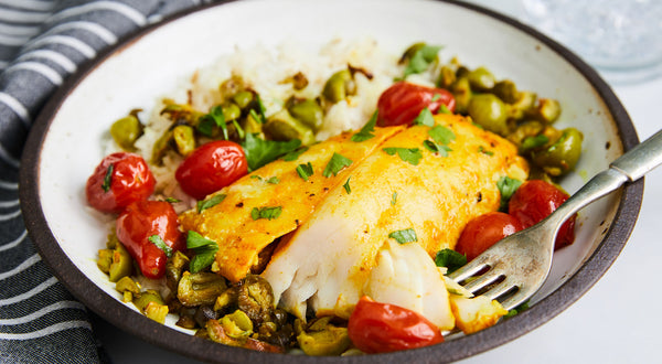 Turmeric Sablefish (Black Cod) with Tomatoes & Capers Recipe