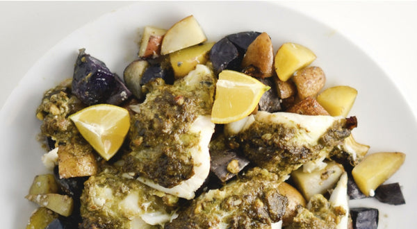 Vicky's Pesto Lingcod Recipe