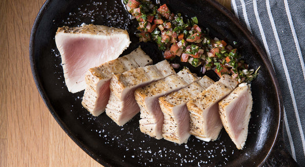 Seared Albacore Tuna with Chimichurri Rojo Recipe