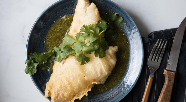 Black Rockfish (Black Bass) Tempura with Lemon-Herb Dipping Sauce Recipe