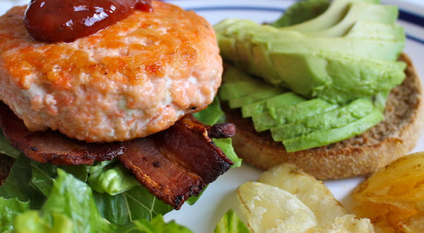 Salmon Burger BLTA Recipe
