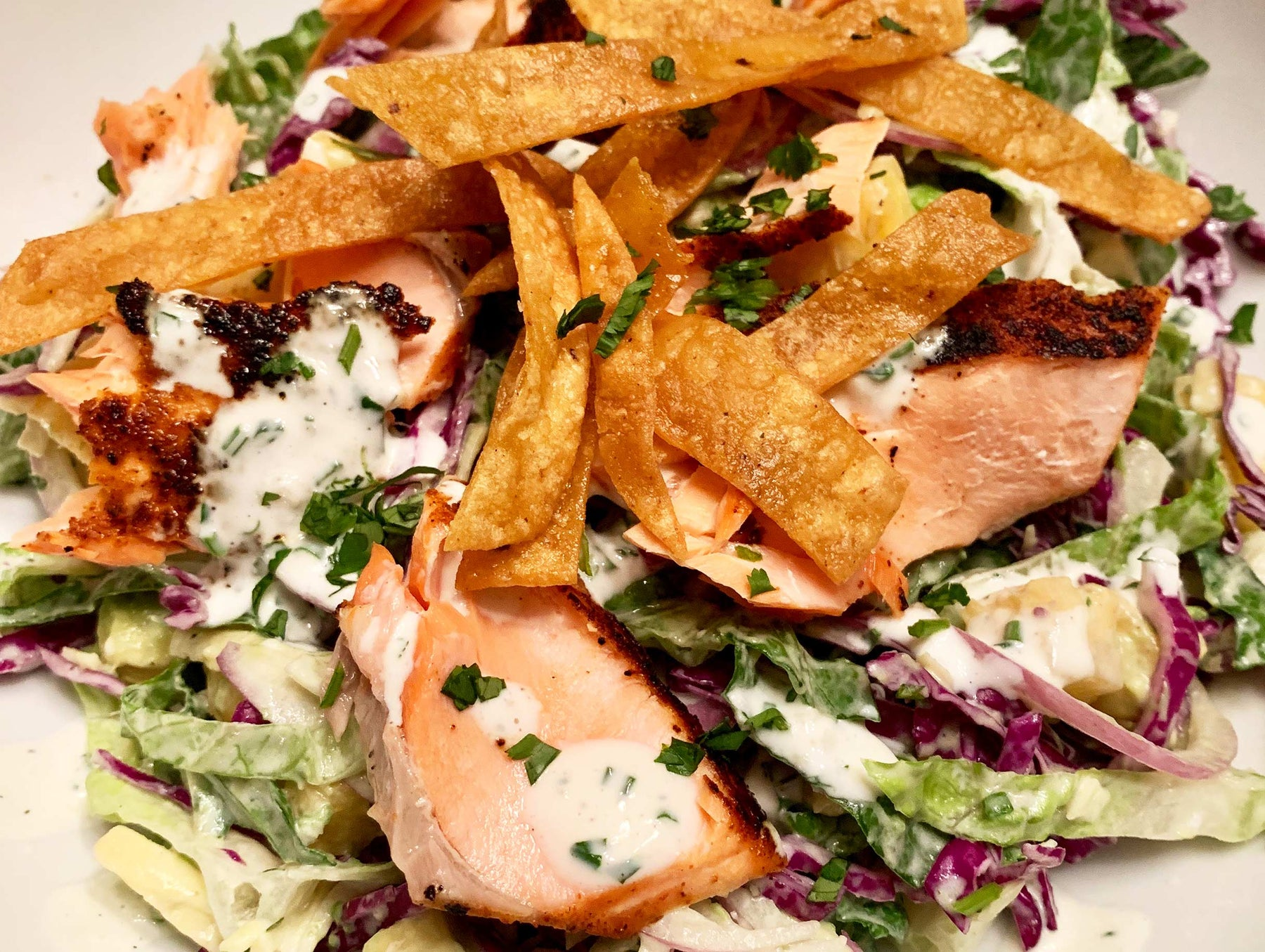 Cali Coast Salad with Grill-Blackened Salmon Recipe