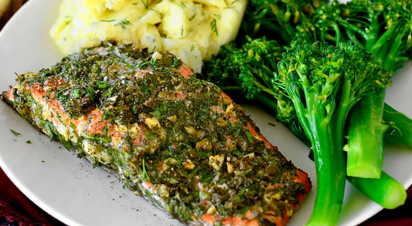 Caper & Herb Crusted Sockeye Salmon Recipe