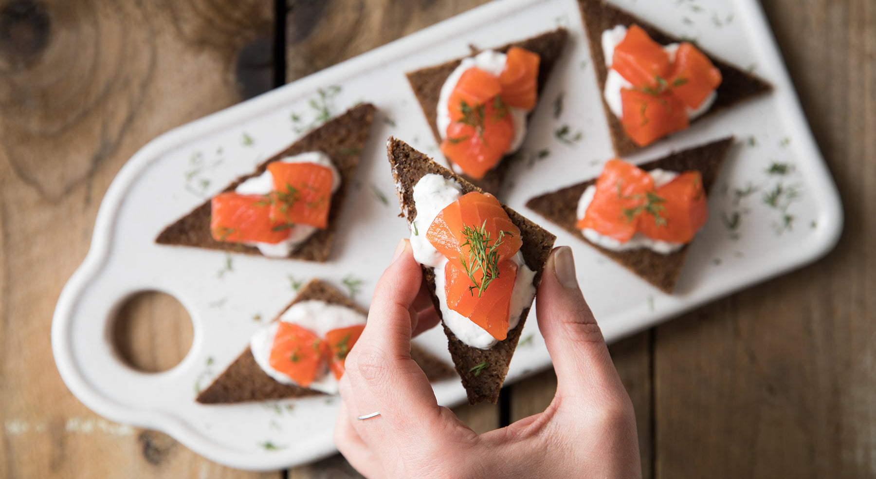 Quick-Cured Coho Salmon Appetizer Bites Recipe