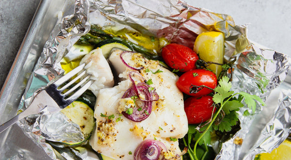 Baked Fish-In-Foil with Vegetables Recipe