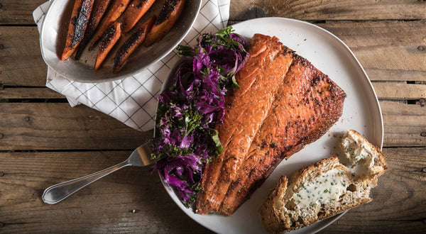 Ginger-Glazed Sockeye Salmon with Charred Carrots Recipe