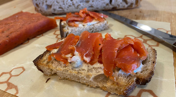Simple Gravadlax (Gravlax) with Mustard Crema Recipe